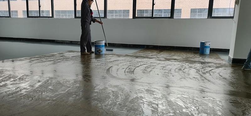 东莞市石排镇铭普光磁车间环氧平涂地坪案例